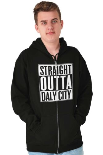 Straight Outta Daly City CA City Movie T Shirts Gift Ideas Zipper Hoodie