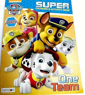 Paw Patrol One Team Super Coloring Activity Book W Stickers Nickelodeon Age 3 9781505063912 Ebay