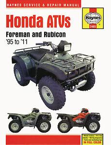 Haynes-Manual-2465-for-Honda-TRX400-TRX450-TRX500-Foreman-amp-Rubicon-ATV-Quads