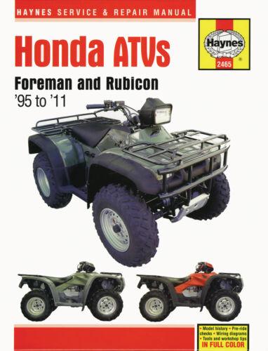 Haynes Manual 2465 - Honda TRX400/TRX450/TRX500 Foreman & Rubicon ATV/Quads