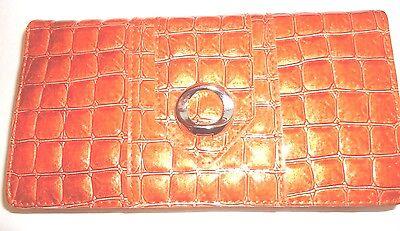 Rolf Smart Phone Croco Checkbook Wallet,Red