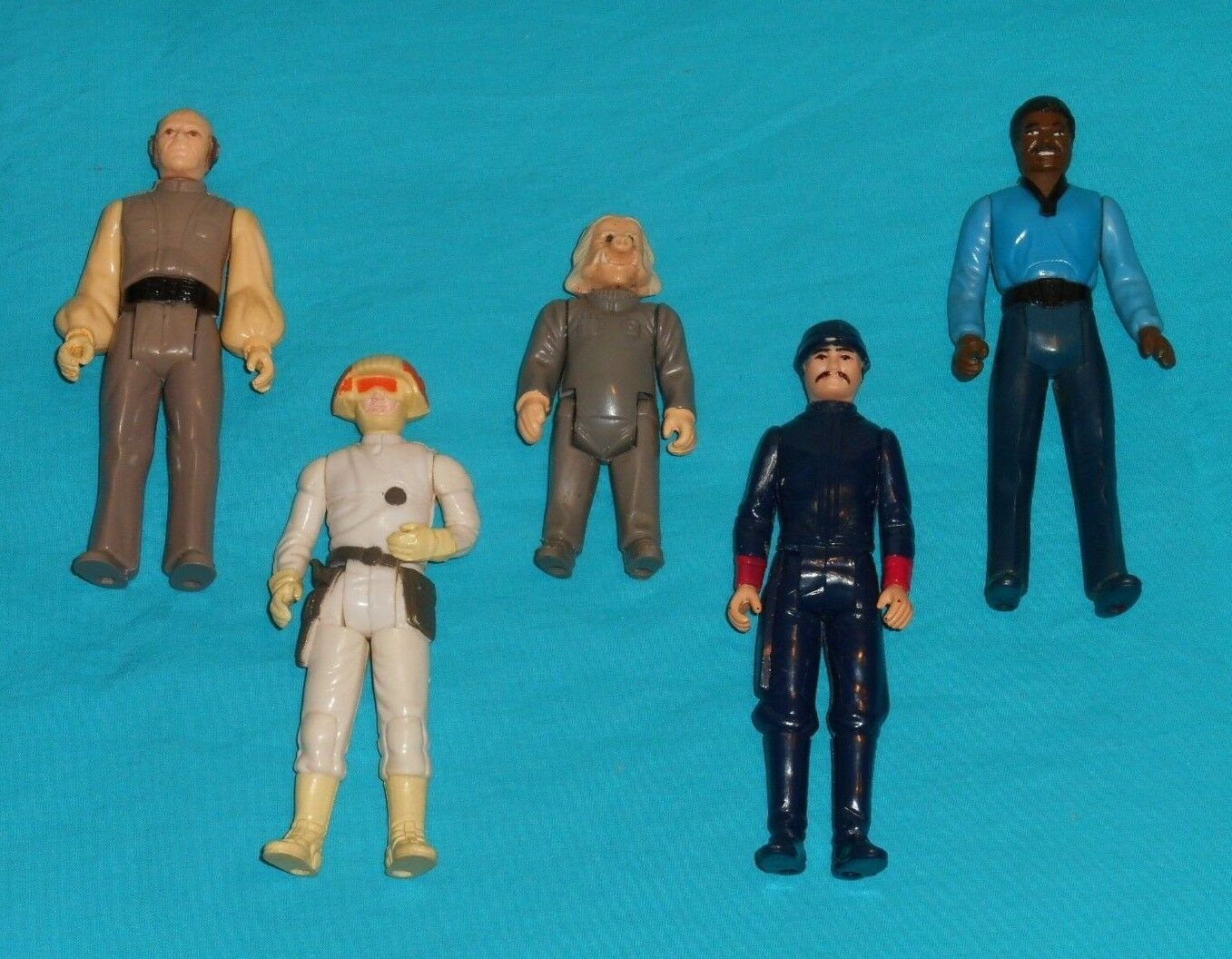 Vintage STAR WARS FIGURE LOT Bespin Guard Cloud car Pilot Lobot Ugnaught