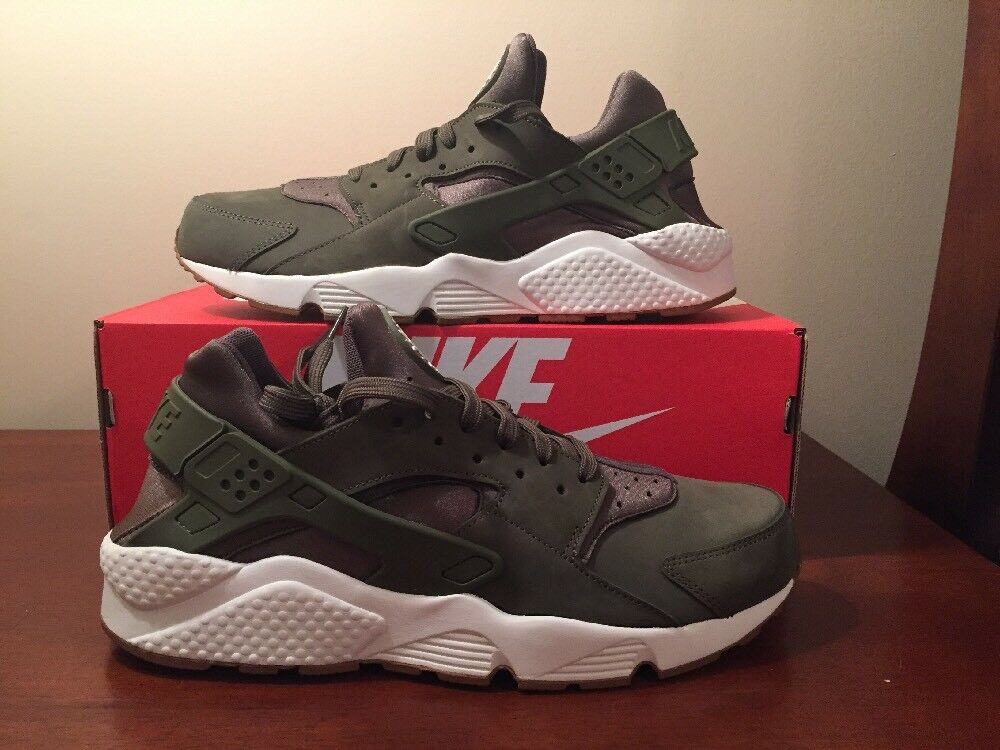 1d2278e88e017e Nike air huarache Uomo 318429-201 medio olive vela gomma scarpe taglia 12