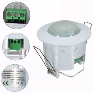 360-220V-Infrared-Recessed-PIR-Ceiling-Motion-Sensor-Detector-Light-Switch-UK