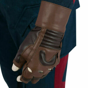 New-Avengers-Endgame-Captain-America-Gloves-Cycling-Leather-Cosplay-Accessories