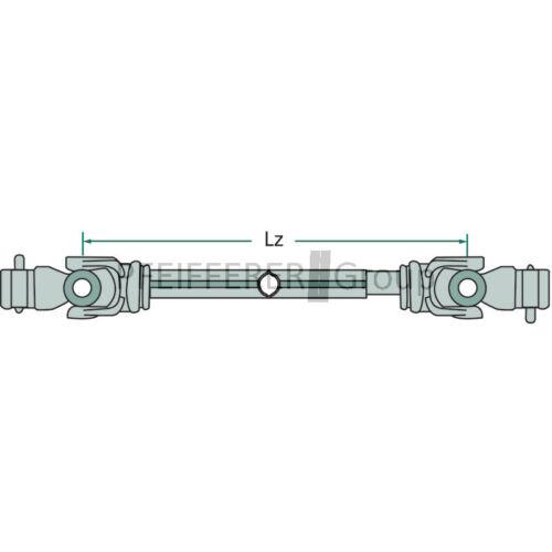 einseitig Weitwinkelgelenkwelle ital 860 mm Baureihe B4 80° Profil P5//P6