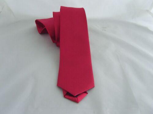 "Dark Raspberry Polyester Necktie-Mens Skinny Tie 2.5/""=6cm Width-P/&P2UK/>1st Class"