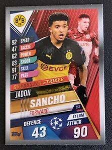 Jadon Sancho w26 World Star Topps Match Attax 101 saison 2019//2020