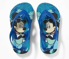 old navy toddler boys disney mickey mouse flips flops size 5-8 NWT