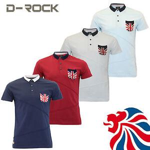 Mens-D-Rock-Union-Jack-Polo-Shirt-Short-Sleeve-T-Shirt-Summer-Great-Britain-Top
