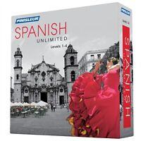 Pimsleur Unlimited Spanish Language Level 1 2 3 4 Course 120 Lessons