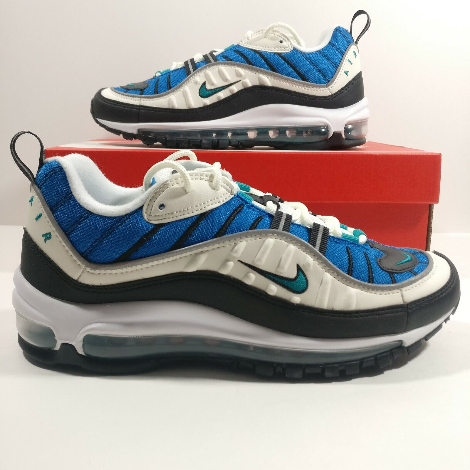 kvinnor Nike Air Max 98 blå Nebula Emerald springaning skor skor skor AH6799 -106 Multi Storlek  100% autentisk