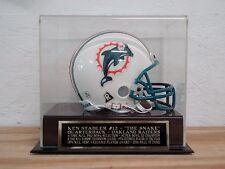 Display Case For A Ken Stabler Oakland Raiders Autographed Football Mini Helmet