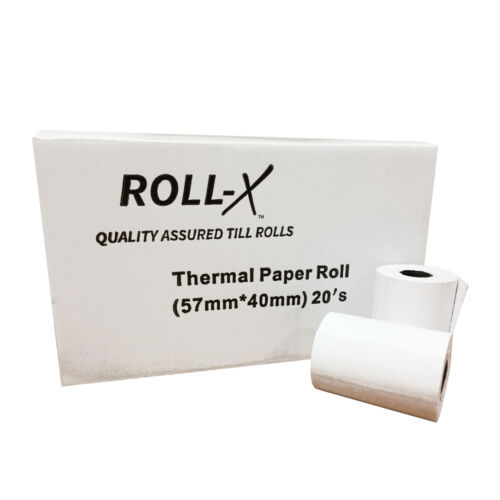 UKB785 200-57x40mm Roll-X Thermal Till Rolls Chip /& Pin PDQ 10 case x 20