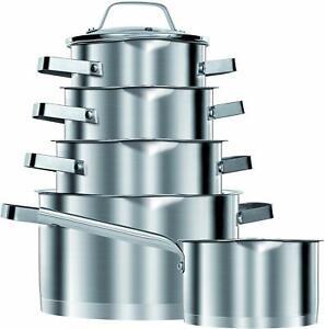 Bateria-de-cocina-induccion-acero-inoxidable-10-piezas-tapas-cristal-Smile-MGK11