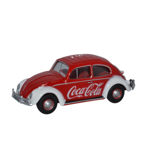 Oxford Diecast 76VWB009CC Volkswagen Beetle Coca Cola OO Gauge