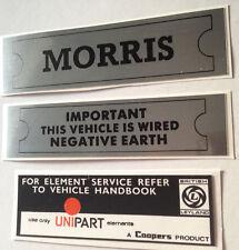 Morris VANO MOTORE Decalcomania Pack MINI MINOR MARINA Oxford CLUBMAN ADO16 landcrab