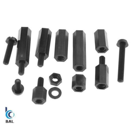 M3 Hex Nylon Standoff Spacer colonne pour PCB fixe en plastique espacement Vis Set