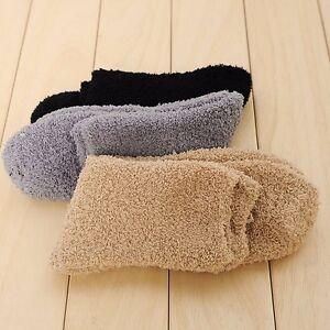 2018 Extremely Cozy Cashmere Socks Men Women Winter Warm Sleep Bed Floor Home Fluffy Men's Socks
