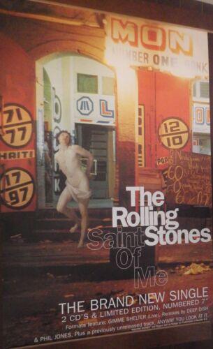 "40x60"" HUGE SUBWAY POSTER~Rolling Stones Saint of Me 1997 Bridges to Babylon NOS"