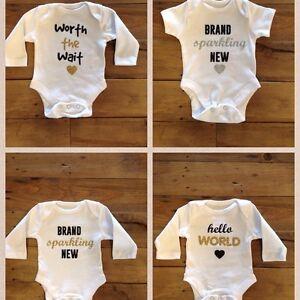 Baby grow bodysuit gitter writing personalised presentgift image is loading baby grow bodysuit gitter writing personalised present gift negle Images