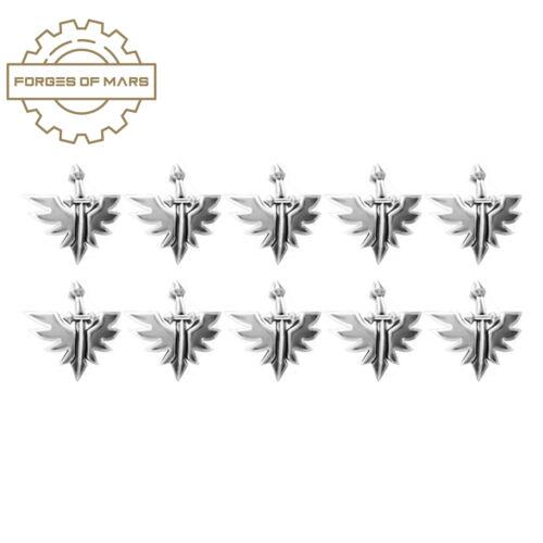 sword 40k dark angels-primaris kneepad symbol x10