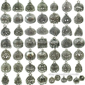 2pcs-Retro-Vintage-Silver-Filigree-Pendant-Crafts-Tassel-Jewelry-Ends-Cap
