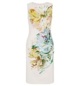 Hobbs Priscilla Latte Macchiato Beige Multi Dress. varie Taglie. RRP £ 159.  </span>