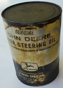 Old Used John Deere Power Steering Oil Can 1 Quart John Deere Oil Can Empty