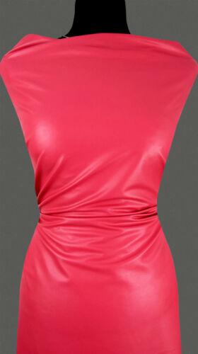 11,80 €//M 50 cm tissu cuir synthétique élastique Doux 6 Couleurs