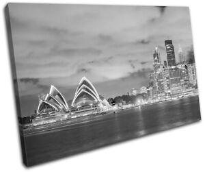 Sydney-Skyline-Harbour-Opera-House-City-SINGLE-CANVAS-WALL-ART-Picture-Print