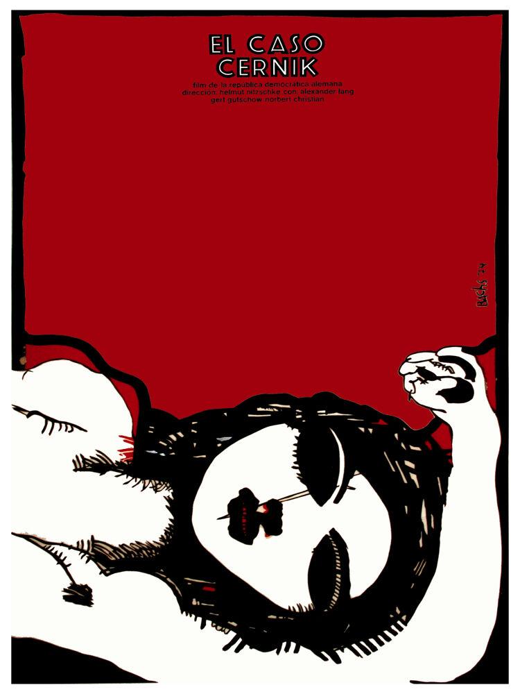 El Caso Cernik rosso vintage Film POSTER.Graphic Design. Wall Art Decoration.3097