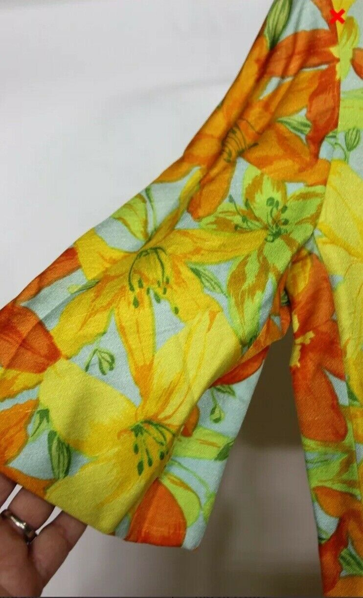 Scaasi Boutique Ruth Roaman Vintage1960s  Bold Fl… - image 3