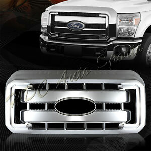 For-2011-2016-Ford-F250-F350-Super-Duty-Chrome-Grille-Grill-Full-Overlay-Cover
