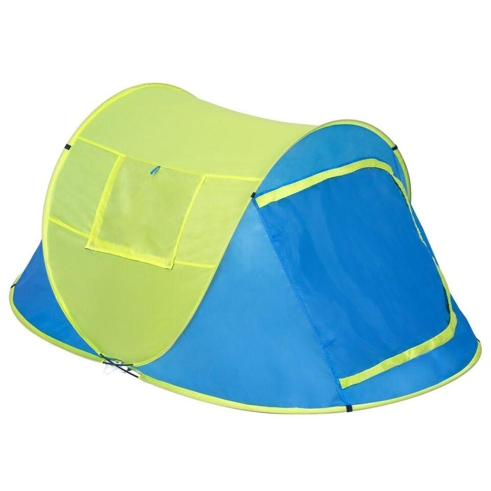 Pop up strandtelt blå/gul