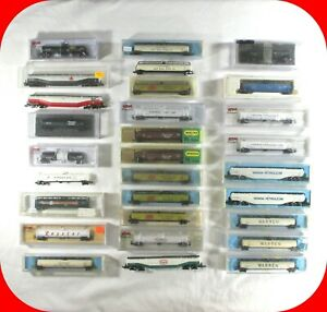 N-Scale-JUMBO-TANK-CAR-Variety-Lot-Some-Rare-33-000-gal-Atlas-Con-Cor-etc