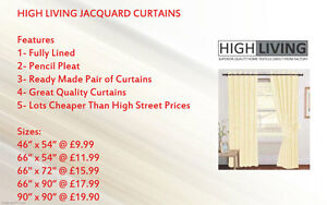 LUXURY-JACQUARD-Curtains-Fully-Lined-Ready-Made-Tape-Top-Pencil-Pleat-Curtains
