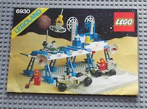 Notice-Building-instruction-booklet-LEGO-LEGOLAND-set-6930-Space-Supply-Station