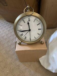 Pottery Barn Pocket Watch Clock Medium Brass Finish W