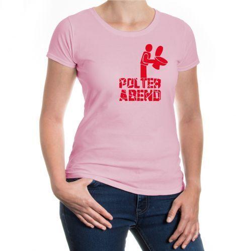 Damen Kurzarm Girlie T-Shirt Polterabend Junggesellenabschied JGA Klobrille