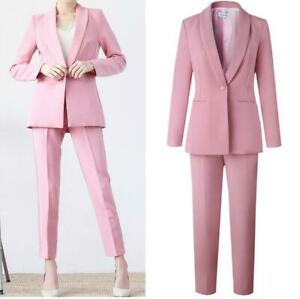 Coat Womens Formal Slim Fit Blazers Skirt Pants 3 Piece Suits OL Zsell