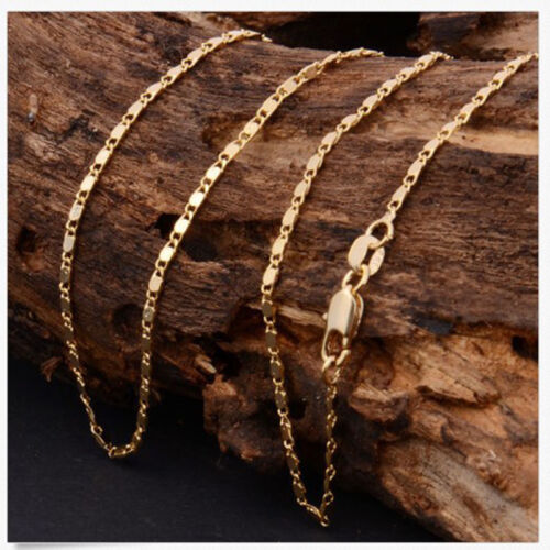 Fine Price 1Pcs 18-26inch  Fashion 18K Yellow GOLD filled Rolo CHAIN NECKLACE