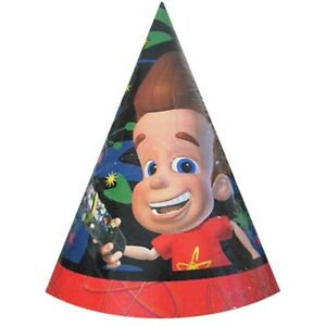 Details about JIMMY NEUTRON CONE HATS (8) ~ Birthday Party Supplies Favors  Nickelodeon Vintage 3887d0a6f47