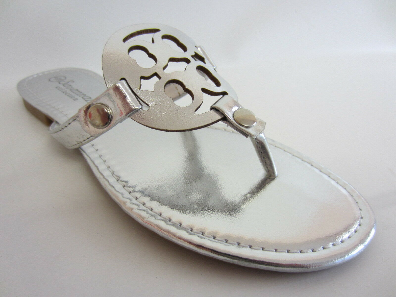 Savannah Ladies to Beach Sandals L6679 to Ladies 7 (R7A) Silver 2484c2