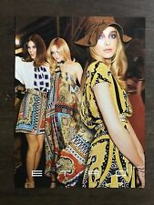 Rare Original Vintage 2011 / 2012 UK Vogue Magazine Fashion Advert Picture ETRO