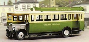 Modelscene 5133 1927 Maudslay ML3 Bus Western National 00 Gauge Plastic Kit T48P