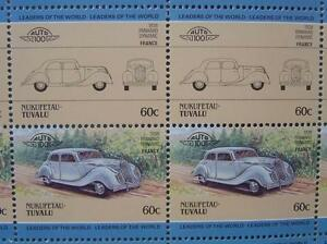 1938-PANHARD-DYNAMIC-Car-50-Stamp-Sheet-Auto-100-Leaders-of-the-World
