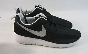 brand new cc4c8 1d3b4 Image is loading 599728-007-Nike-Roshe-Run-Gs-Black-Metallic-