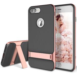 For-Apple-iPhone-8-7-Plus-Slim-Fit-Hybrid-Kickstand-Bumper-Rubber-Case-Cover