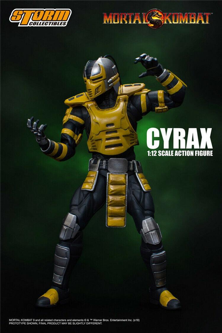 1 12 tormenta Juguetes LK-4D4 ninjaroids Cyrax Mortal Kombat Juego Set Figuras De Acción De Juguete